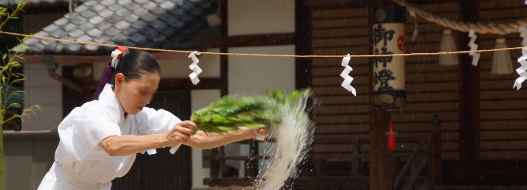 夏越祭巫女湯神楽